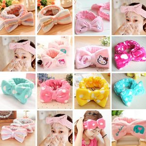 Wholesale Hot sale Bowknot Makeup Makeup Belt Belt Cute Flannel Hairband TG186 mix order pieces a