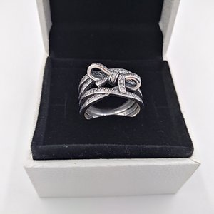 Wholesale Authentic Sterling Silver Rings Oriental Blossom Ring Fits European Pandora Style Jewelry CZ