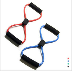 Wholesale 8 shaped Chest Developer Resistance Bands Loop Fitness Crossfit Power Lifting Pull Up Strengthen Muscles Fitness Equipments