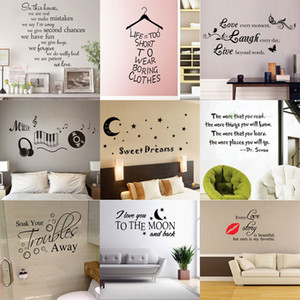 180 styles New Removable Vinyl Lettering Quote Wall Decals Home Decor Sticker Mordern art Mural for Kids Nursery Living Room on Sale