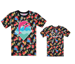 Wholesale pink dolphin t shirt Men Sport Short Sleeve leopard Printed Hip Hop T Shirt Men Hipster Clothing tshirt Streetwear Tees Shirts High quality