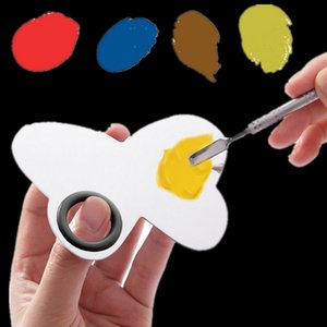 Wholesale Butterfly Design Nail Arts Mixing Palette Cosmetic Eye Shadow Palette pc Spatula Stainless Steel Hands Free Beauty Tools ZA2331