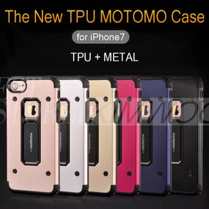 Wholesale MOTOMO in Hybrid TPU Metal Case Brushed Tough Back Cover Protector Shock proof For iPhone Plus Samsung S7 Note OPP Bag