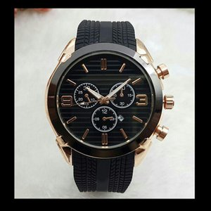 Wholesale Top brand Large Size Watch Men Luxury Designer automatic Date calendar gold Wristwatch Sports style Military silicone Big digital Male Clock