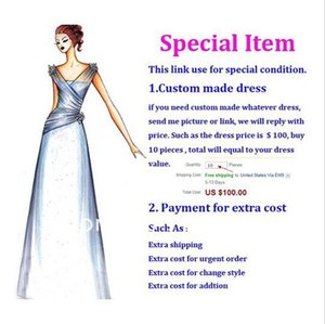 Wholesale Additional Pay on Your Order Fast Fee Plus Size Extra Fee Fabric fee Fast Shipping Extra Money Custom Made Dresses