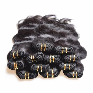 Factory Clearance Wholesale Brazilian Human Hair Extensions Weaves Real Human Hair Material Made 2kg 40Pieces Lot Body Wave Black Color Hair