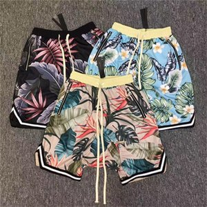 Wholesale Fear Of God Shorts Men Women 2017 New Floral The 1987 Collection FOG fearofgod Beach Mesh Shorts Summer Style Fear Of God Shorts