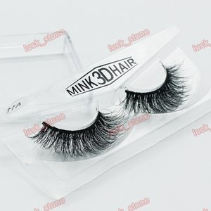 Wholesale 18 design mink d hair Hand made eyelashes single pack in plastic case multilayer crisscross thick False eyelashes OEM order with your logo
