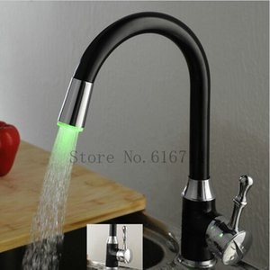 Wholesale New Design Oil Rubbed Bronze LED Kitchen Faucets Swivel Sink Mixer Tap torneira S