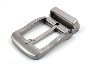 Titanium GR5 Pin Belt Buckle Nickle-free Anti-corrosion Anti-allergic No-plating Light Weight 47g with Belt Loop for Belt Wide 32mm to 34mm
