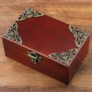 Classical Wooden Rectangle Shape Music Boxes Classic Carving Jewelry Box For Cute Gifts