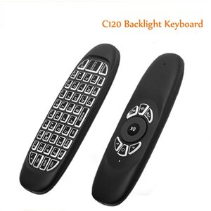 Wholesale Genuine English C120 Backlight Air Mouse Rechargeable Fly Mouse Keyboard for Smart TV BOX Computer Mini PC
