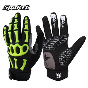 Wholesale New Bike Cycling Gloves Full Finger Men Downhill Road MTB Mountain Bicycle Racing Gel Skull Gloves Luva De Ciclismo Guantes