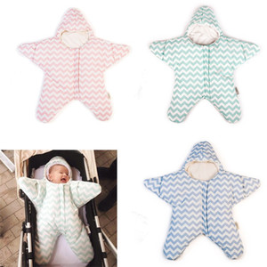 Wholesale starfish clothing resale online - baby starfish sleeping bag baby sleeping bag winter newborn prams bed swaddle blanket wrap cartoon bedding