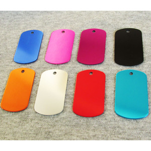 100pcs Blank Military Dog ID Tags, Aluminum alloy Army Dog tags mixed colors and factory Wholesale