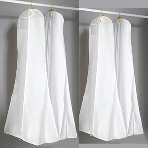 Thick Nonwoven White Dust Bag For Wedding Dress Prom Evening Gown Bags 180*70*25 CM Garment Cover Travel Storage Dust Covers