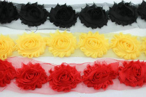 European and American headdress shabby chiffon three-dimensional flowers burrs rose sun lace DIY home textile apparel accessories