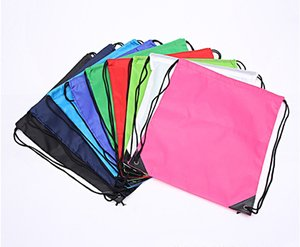 Wholesale 2017 Hot Drawstring Non woven fabric Tote bags waterproof Backpack folding bags Marketing Promotion drawstring shoulder bag Storage Bags