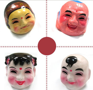 free shipping Chinese folk arts and crafts big Buddha mask dance lion performance props Grandfather grandmother boy girl Halloween mask 0