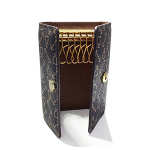 Wholesale Old cobbler best selling 6 KEY HOLDER top qualiy Coated canvas real Leather Lining Fashion wallet Free Delivery