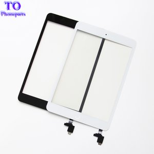For iPad mini 1 mini 2 Touch Screen Panel Digitizer Glass Panel Lens Sensor Repair + IC +Home Button Flex free shipping on Sale