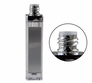 Wholesale LED light UP lip gloss container LED lip gloss bottle with mirror on one face black silver top