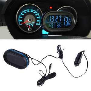 Time clock, automobile electronic clock, on board thermometer luminous clock for automobile on Sale