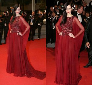 Scoop Red Elegant gowns Celebrity country Sparkling prom dress Runway 2019 pregnant fairy modest prom dresses evening gowns elie saab on Sale