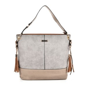 Fashion New Woman Handbags Top-Tote Brand Designer VintageTassel elegant Patchwork Shoulder Bags PU Leather Single shoulder strap SY2126 on Sale