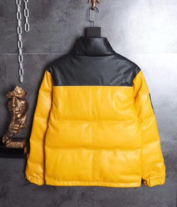 Fashion Brand Cooperation Nuptse Leather Down Jackets 17FW T X Nuptse Jacket Windproof Thick Outerwear Trend Winter Coat on Sale