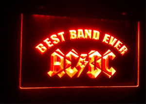 Wholesale best led neon signs for sale - Group buy b Best Band Ever ACDC beer bar d signs culb pub led neon light sign home decor crafts