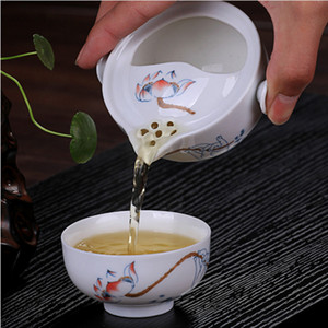 YGS-Y225 Tea set Include 1 Pot 1 Cup, High quality elegant gaiwan,Beautiful and easy teapot kettle teapot