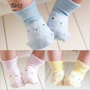 Wholesale-High Quality (4 Pairs Lot) Cartoon Children's Socks Cotton Ankle Socks for Baby Boys and Girls