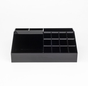 Wholesale Classic Acrylic Black Lipstick Multifunctional Display Stand Cosmetics Organizer Accessories Storage Boxes Gift Boxes