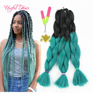 Wholesale three tone four tone Ombre color inch JUMBO BRAIDS SYNTHETIC braiding hair extensions crochet braids hair croceht hooks for braided hiar