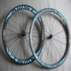 AWST 60mm full carbon fiber road bike wheels green decal bicycle carbon wheels clincher 700C china bike wheels free shipping