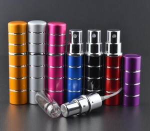 Wholesale New ml pump stitching Glass Perfume bottle Atomizer Anodized Aluminum Empty glass Travel Refillable Spray
