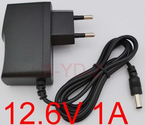 100PCS High quality 12.6V 1000mA 1A 5.5mm*2.1mm Universal AC DC Power Supply Adapter Wall Charger For lithium battery