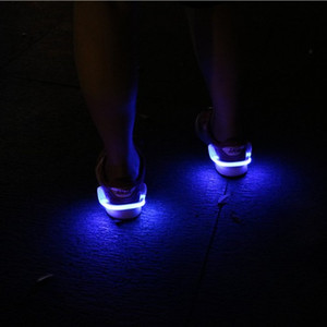 Wholesale Flash Shoes Lights Running Riding Warning Lamp LED Luminous Shoe Clip Light Night Safety For Outdoor Games Hot Sale qc F