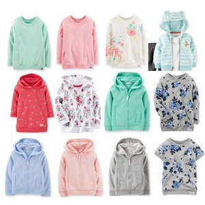 Wholesale Wholesale- Baby Kid Girl Boy Terry Hooded Pullover Top Lastest Spring Full Sleeve Tee Brand Clothing In Store