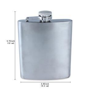 Fine Stainless Steel Hip Flasks Flagon Kettle Srinks 7OZ Portable For Men Hip Flasks Pocket Hot Sale