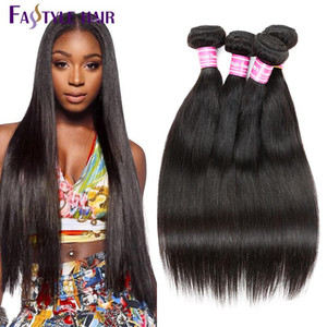 Wholesale HOT SELLING Fastyle Brazilian Straight Hair Extensions TOP Quality Hair Weave Peruvian Malaysian Indian Unprocessed Virgin Hair Bundles