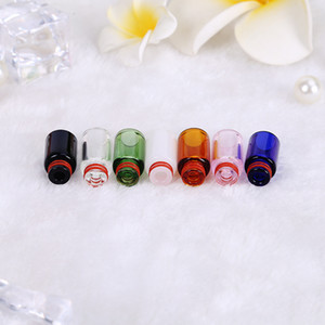 Wholesale ecig new drip tip resale online - New Arrival Pyrex Glass Drip Tip Drip Tips Colorful Long Mouthpiece for Thread Atomizers Tank RDA RTA Ecig E Cigarette Vape