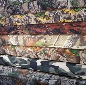 Wholesale 2017 DHL free delivery printed fabric woven polyester camouflage fabric bionic jungle big tree camouflage outdoor hunting clothing