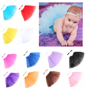 Wholesale 2017 Newborn Tutu Clothes Skirt Baby Girls Knitted Crochet Photo Prop Outfits baby girls bubble skirt Headbands Girls Bubble Skirt