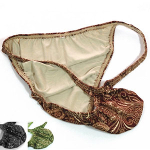 Mens String Bikini Fashional Panties Bulge Contoured Pouch Classical Paisley Printed G7034 Soft Comfort men's underwear