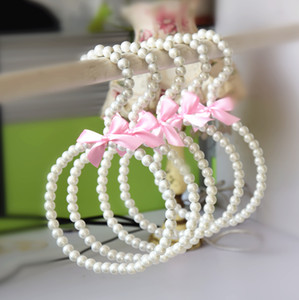 ABS Pearl Scarf Tie Hangers Colorful Round Circle Scarves Plastic Rack Hanging Rack Antiskid Seamless 10pcs wholesale