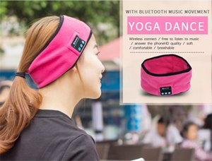 Wholesale Wireless Bluetooth Sports Headband Earphones Sweat Absorption Cap music Hats Music Sleepband Sleep Headphones with MIC for iphone s plus