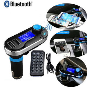 1pc Car FM BT66 Transmitter Bluetooth Hands-free LCD MP3 Player Radio Adapter Kit Charger Smart Mobile phone with Retail package