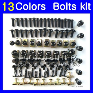 Fairing bolts full screw kit For SUZUKI GSXR600 GSXR750 04 05 GSXR 600 750 K4 GSX R600 R750 2004 2005 Body Nuts screws nut bolt kit 13Colors